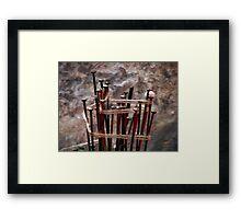 ©HS Pin Cushion IA Framed Print