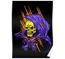 Purple Hooded Evil Skull Dude Poster