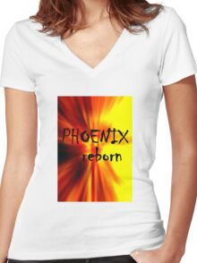 Phoenix Reborn Women's Fitted V-Neck T-Shirt