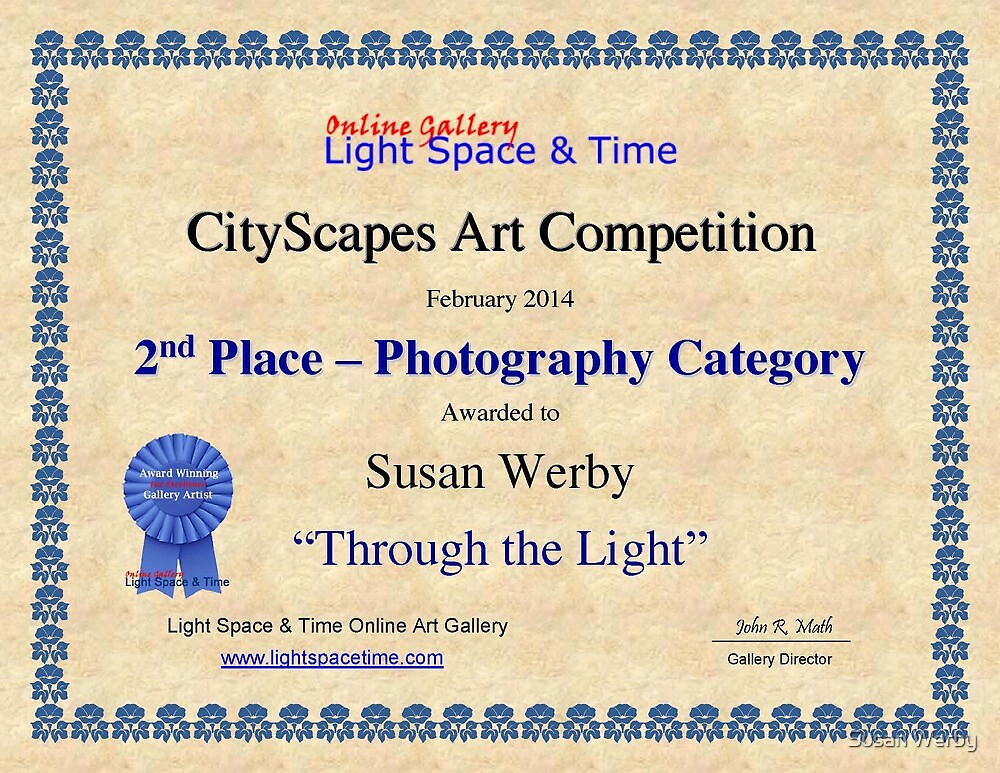 2nd Place-Photography-Through the Light by Susan Werby