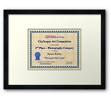 2nd Place-Photography-Through the Light Framed Print
