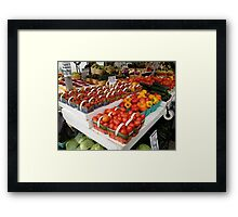 Local Delicacies Framed Print