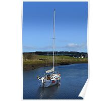 Yacht In St Andrews Harbour Poster