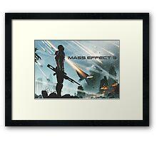 earth's siege, mass effect 3  Framed Print