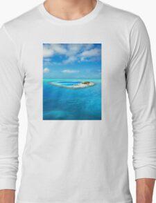 Huvafen Fushi - Maldives atoll island Long Sleeve T-Shirt