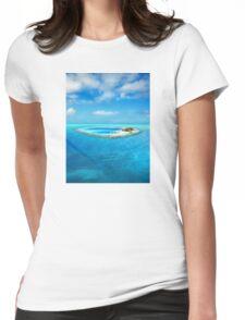 Huvafen Fushi - Maldives atoll island Womens Fitted T-Shirt