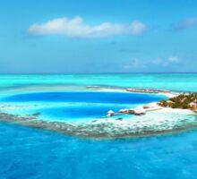 Huvafen Fushi - Maldives atoll island Sticker