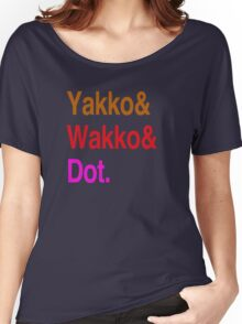 Animaniacs (Yakko, Wakko, Dot) Women's Relaxed Fit T-Shirt