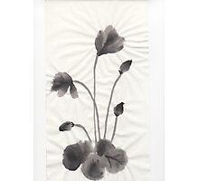 Ink flower Photographic Print