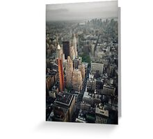 The Giant Over The Big Apple Greeting Card