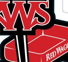 Red WagonS Sticker