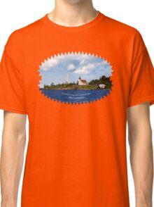 Copper Harbor Lighthouse Michigan Landscape Classic T-Shirt