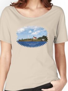 Copper Harbor Lighthouse Michigan Landscape Women's Relaxed Fit T-Shirt