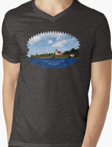 Copper Harbor Lighthouse Michigan Landscape Mens V-Neck T-Shirt