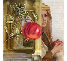The Pomegranate Eater Photographic Print