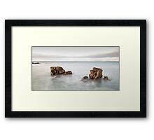Face in the Rock Framed Print