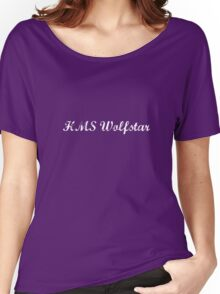 HMS Wolfstar White Text Women's Relaxed Fit T-Shirt
