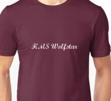 HMS Wolfstar White Text Unisex T-Shirt
