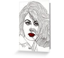 Sophia with Red Lips Greeting Card