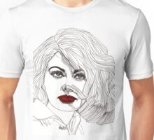 Sophia with Red Lips Unisex T-Shirt