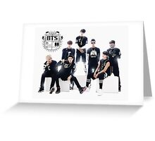 BTS KPOP Greeting Card