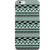 Mint Black White Tribal Style Pattern iPhone Case/Skin