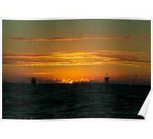sunset naples gulf coast Poster