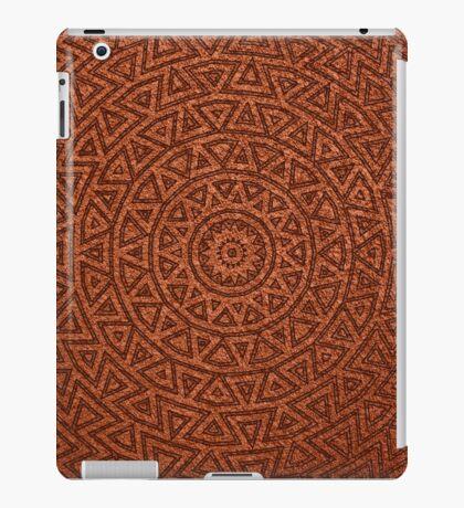 Terra Cotta Aztec Sun Pattern iPad Case/Skin