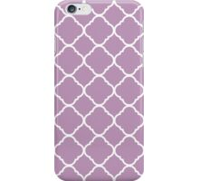 Violet Purple White Quatrefoil Pattern iPhone Case/Skin