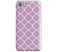 Violet Purple White Quatrefoil Pattern iPhone Case/Skin