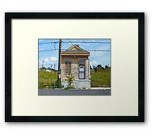 Shotgun House Framed Print