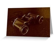 WWII Binoculars  Greeting Card