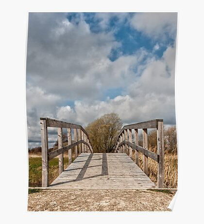 Wooden bridge Poster