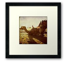 Some places have legs instead of wheels Framed Print