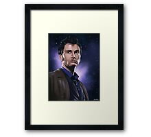 Tenth Doctor Portrait Fan Art Print Framed Print