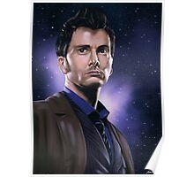 Tenth Doctor Portrait Fan Art Print Poster