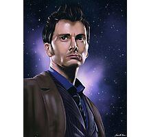 Tenth Doctor Portrait Fan Art Print Photographic Print