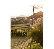 late afternoon countryside japan Photographic Print