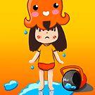 Girl vs Octopus by parisiansamurai