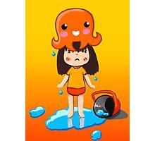 Girl vs Octopus Photographic Print