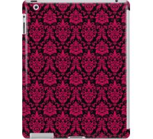 Bold Hot Pink and Black Damask Pattern iPad Case/Skin