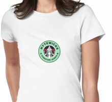 Nytewicks Signature Scents Badge Green Womens Fitted T-Shirt