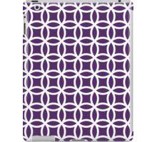 Purple White Modern Circle Leaf Pattern iPad Case/Skin