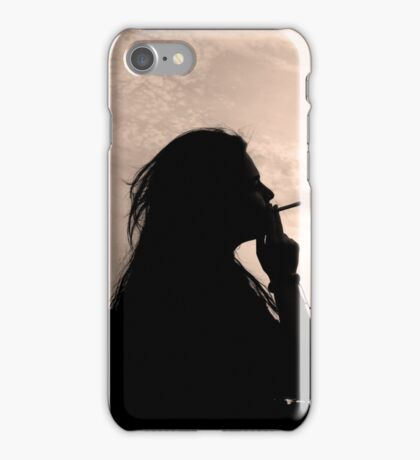 woman with cigarette iPhone Case/Skin