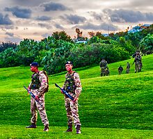 Bermuda Regiment B Company in training {Goverment House Grounds} by buddybetsy