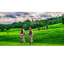 Bermuda Regiment B Company in training {Goverment House Grounds} Photographic Print