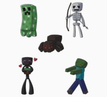 Chibi Minecraft Mobs by myfluffy