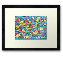 colour in a cage Framed Print