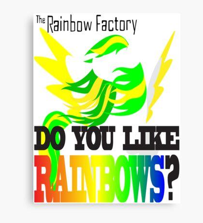 The Factory Slogan Canvas Print