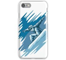 Jumping snowboarder iPhone Case/Skin